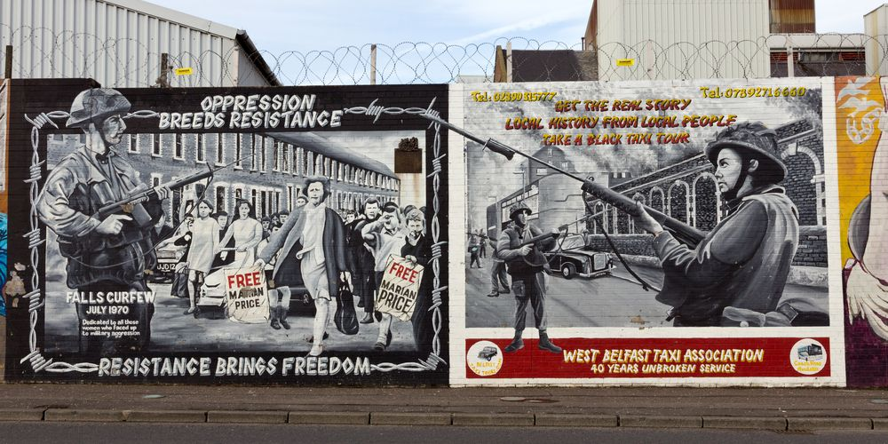 You will see the International Peace Wall on the West Belfast walking tour
