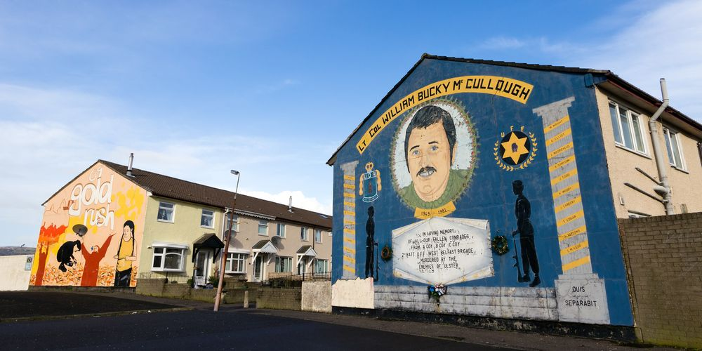 You will see murals on the West Belfast walking tour