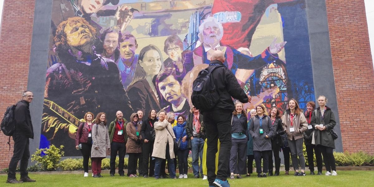 One of our Belfast Group Tours at East Belfast murals