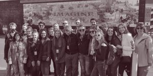 Tour group at the International Peace Wall Belfast