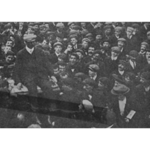 Willie Barrett being carried by the crowds