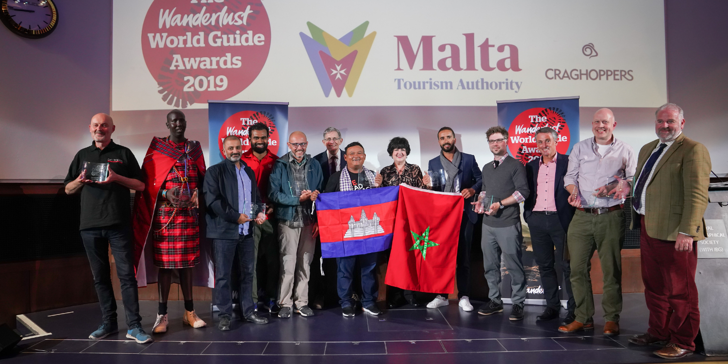 Paul Donzo Donnelly at the Wanderlust World Guide Awards in 2019