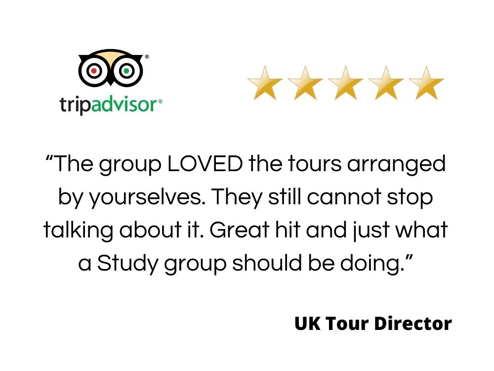 Quote from a UK Tour operator giving information for travel agents