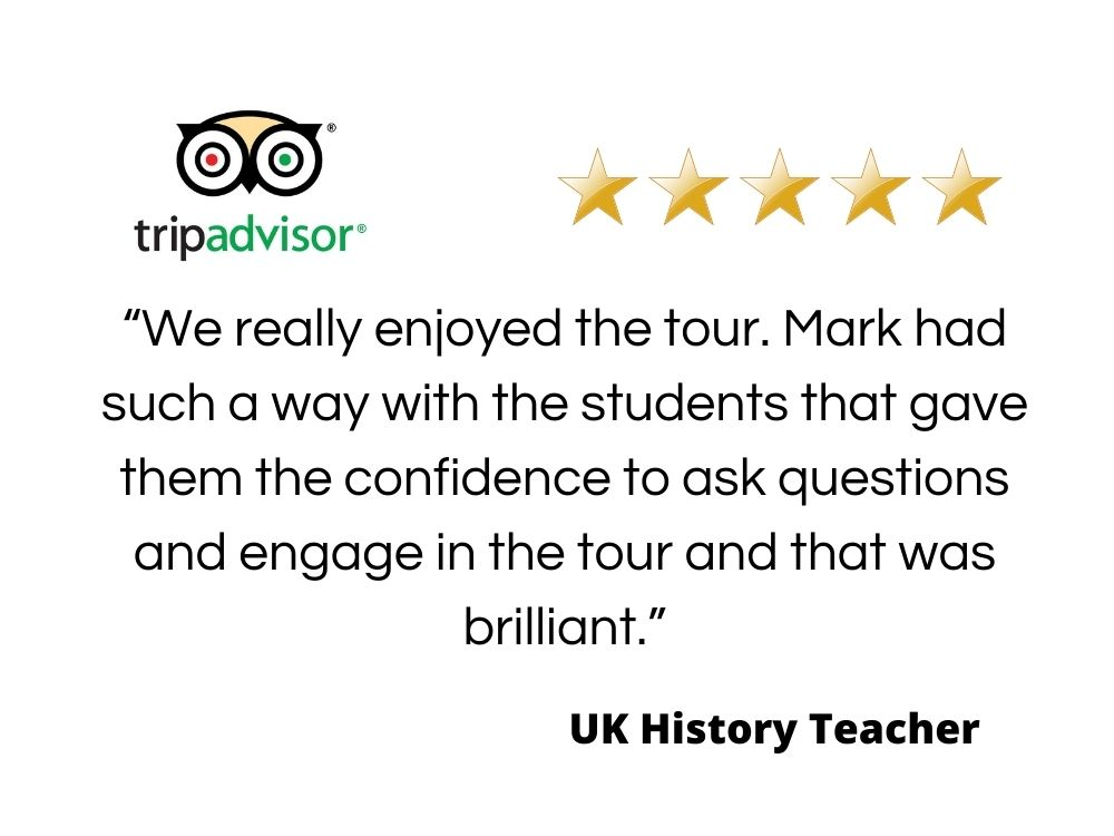 Quote from a UK History teacher giving information for travel agents