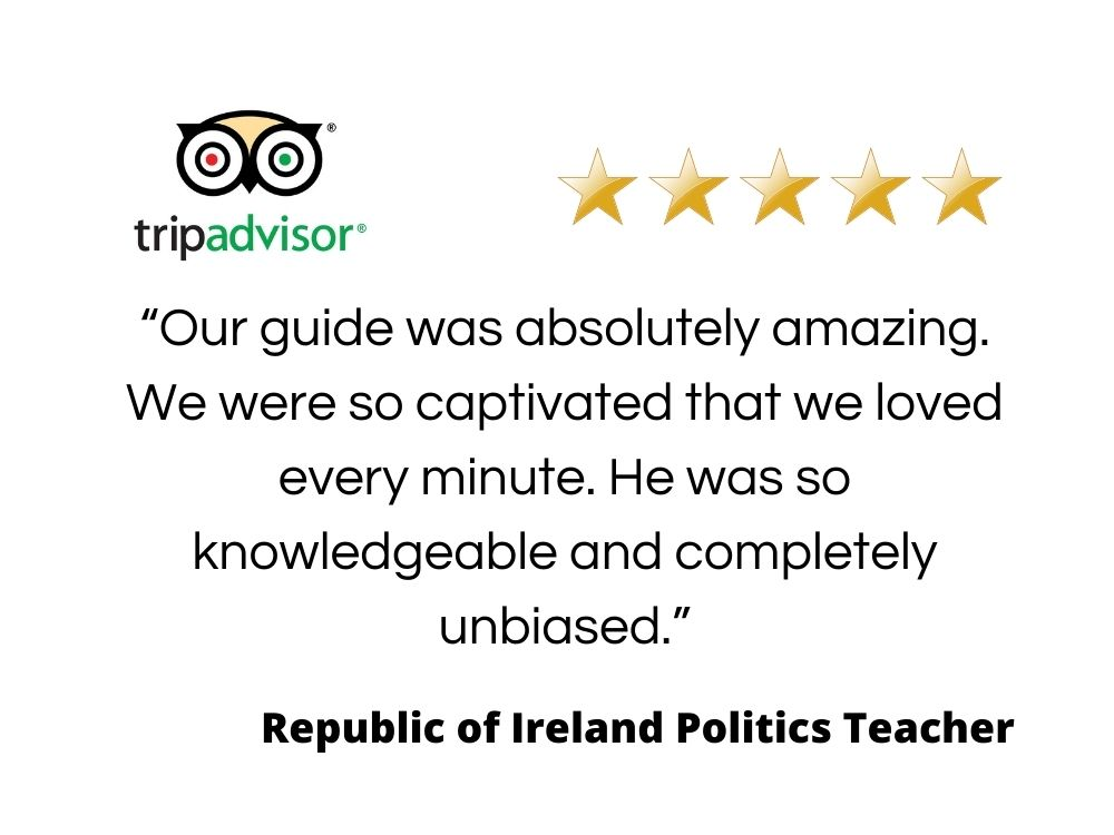 Quote from an Irish Politics teacher giving information for travel agents