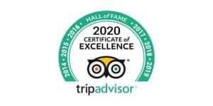 Tripadvisor Certificate of Excellence 2020