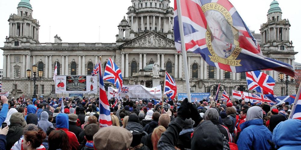 Loyalist demonstration at Belfast City Hall