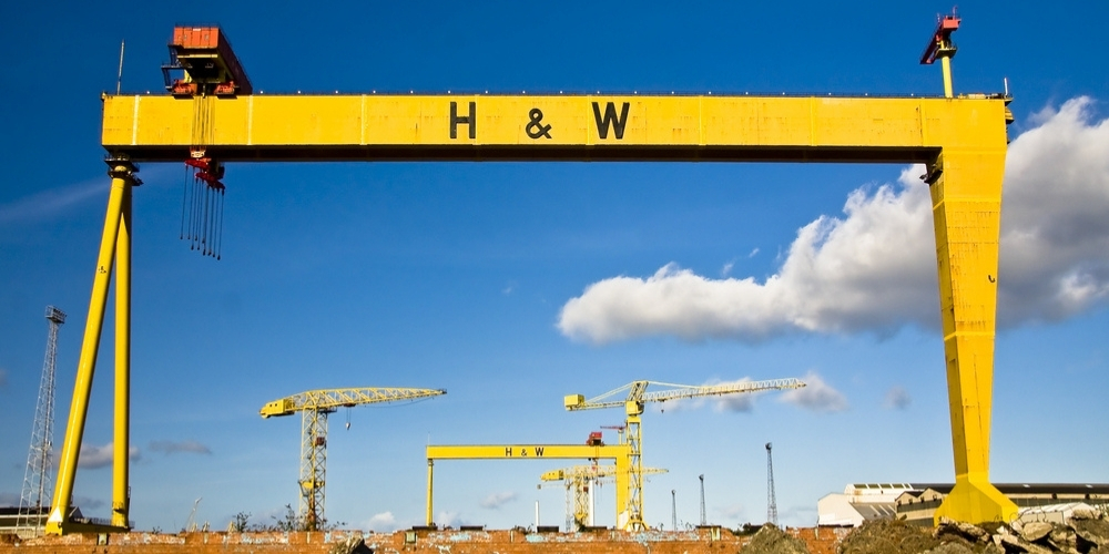 Harland and Wolff cranes, which you will see on the Best of Belfast walking tour