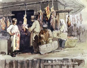 Butchers shops on Hercules Street