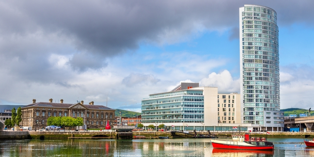 The River Lagan which you will see on the Best of Belfast walking tour