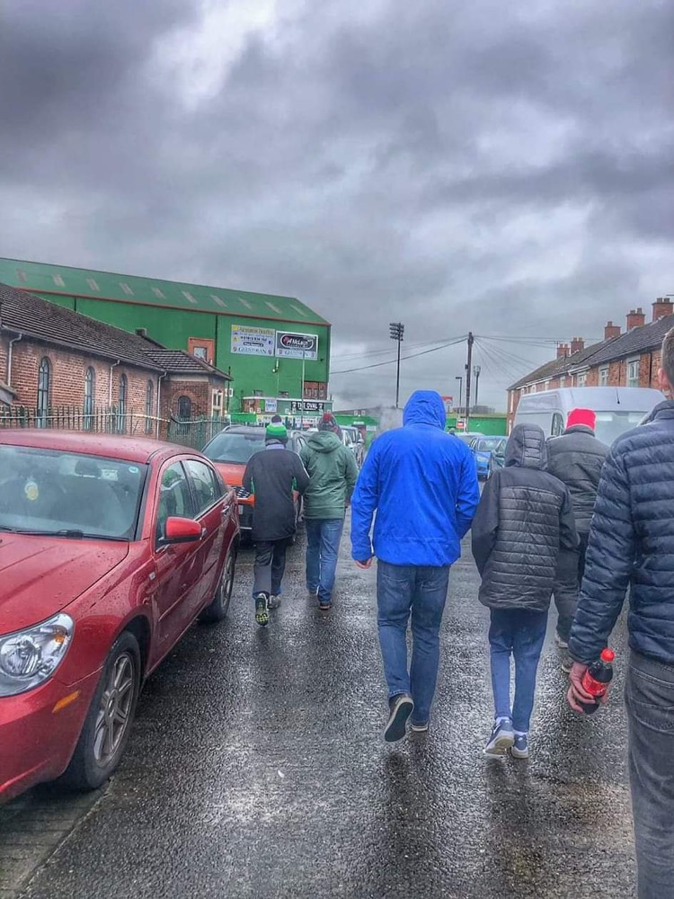You need to wear your big coat when you go to football matches in Belfast