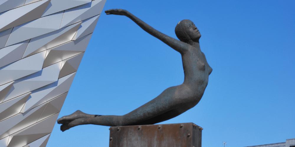 Titanica sculpture at the Titanic Building